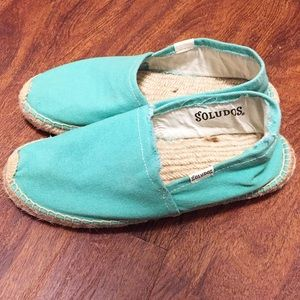 Soludos Teal Green Espadrille Flats